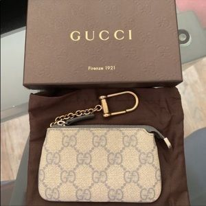 Gucci GG Canvas Gray Key Case